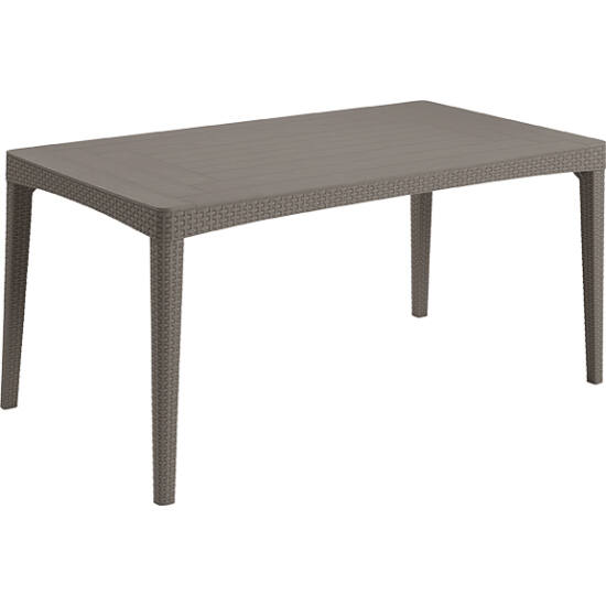 ALLIBERT GIRONA TABLE FLAT WAVES MŰRATTAN KERTI ASZTAL
