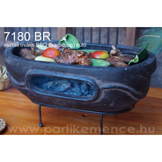 7180BR asztali, ovális BBQ (barbecue) sütő (szín: barna)